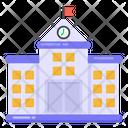 School School Building Educational Institute Icon