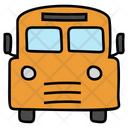 School Bus Van School Conveyance Icon