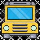 School Bus Student Icon