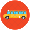 School Bus School Van Local Transport Icon