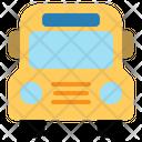Shool Bus Transport Vehicle Student Icon
