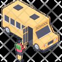 School Bus Transport Local Transport Public Transport Icon