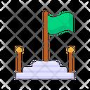 School Flag Flagpole Banner Icon