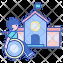 School For Disabled School Handicap For School Icon