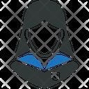 School Girl Student Avatar Icon