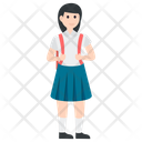 School Going Girl Icon