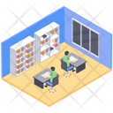 School Library Public Library Book Repository Icon