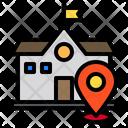 School Pin Locations Icon