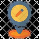 Pin Location School Icon