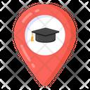 School Location Navigation Gps Icon
