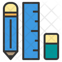 School Material Pencil Measurement Icon