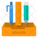 School Materials Tool Ruler Icon