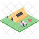 School Picnic Camp Icon