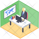 School Principal Office Administration Office Workplace Icon