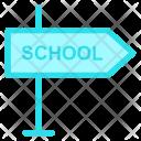 Signboard School Orientation Icon