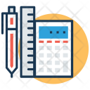Stationery Ruler Calculator Icon