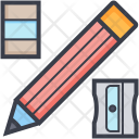 Pencil Eraser Sharpener Icon