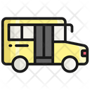 School Van Vehicle Bus Icon