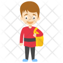 Schoolboy Cartoon Icon