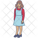 Schoolgirl Girl Young Girl Icon