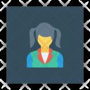 Schoolgirl Girl School Icon