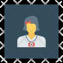 Schoolgirl Student Education Icon