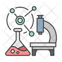Science Research Microscope Icon