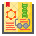 Science Book Research Book Dna Research Icon