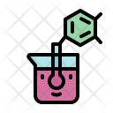 Chemical Flasks Science Icon