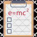 Clipboard Science Formula Icon