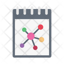 Notepad Science Molecule Icon