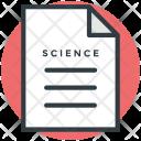 Scientific Document Note Icon