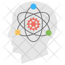 Atomic Brain Scientific Icon