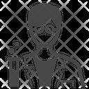 Scientist Researcher Chemistry Icon