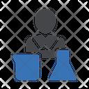 Scientist Beaker Lab Icon