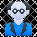 Scientist Man Profession Icon