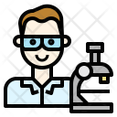 Scientist Laboratory Experiment Icon