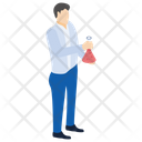 Chemistry Flask Lab Experiment Laboratory Test Icon