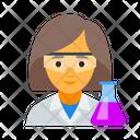 Chemist Chemistry Female Icon