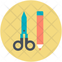 Scissor Cut Pencil Icon