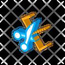 Cut Tool Silhouette Icon