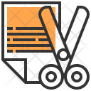 Scissor Design Stationery Icon