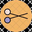 Scissor Cut Shears Icon