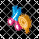 Scissor And Ribbon Icon