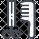 Scissors Comb Animal Care Icon