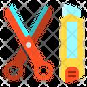 Scissors Cutter School Icon