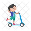 Toy On Scooter Icon