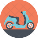 Traveling Scooter Bike Icon