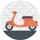 Vehicle Scooter Girl Icon