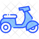 Moped Transport Scooter Icon